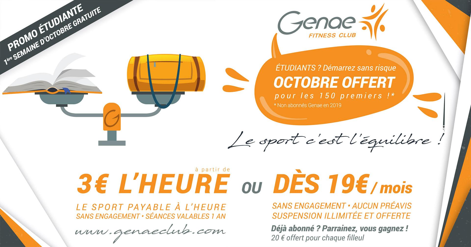 Création d'affiche octobre offert pour les étudiants